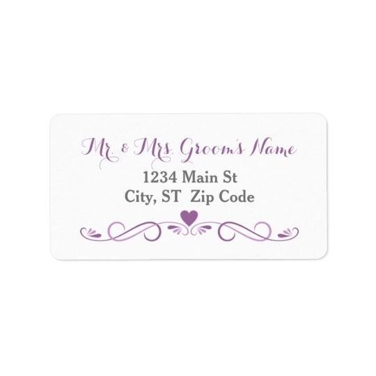 Elegant Heart Frame Medium Address Labels