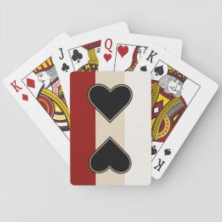 Elegant Heart to Heart Poker Deck
