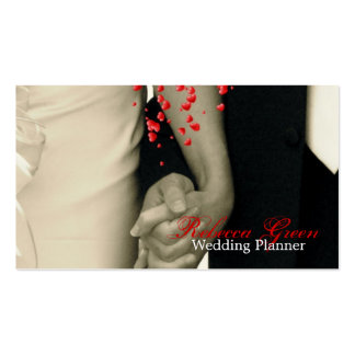 elegant hearts B&W vintage couple holding hands Business Card Templates