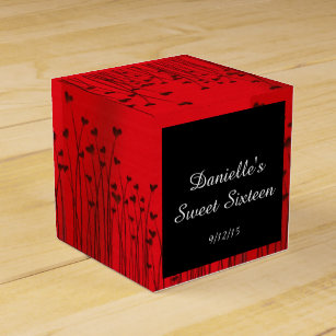 Red Black Sweet 16 Party Supplies Zazzle Co Uk