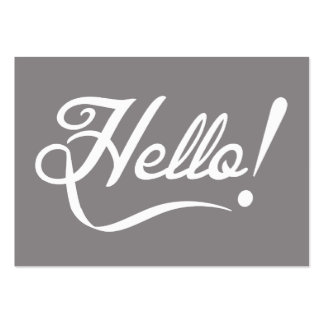 Elegant Hello Pack Of Chubby Business Cards