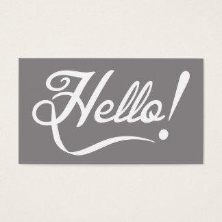 Elegant Hello Business Card