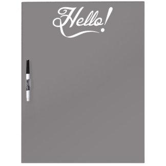 Elegant Hello Dry Erase White Board