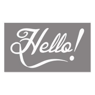 Elegant Hello Pack Of Standard Business Cards