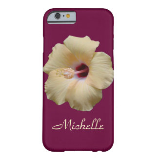 Elegant Hibiscus Flower Barely There iPhone 6 Case