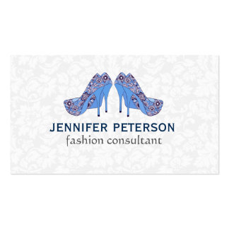 Elegant Hight Heel Shoe Fashion Consultant Double-Sided Standard Business Cards (Pack Of 100)