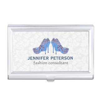 Elegant Hight Heel Shoe Fashion Consultant Business Card Holder