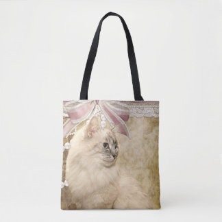 Elegant Himalayan Persian cat Tote Bag