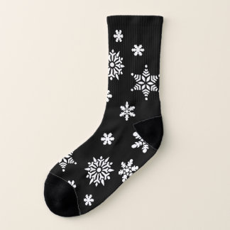 Elegant Holiday Black and White Snowflakes Pattern 1