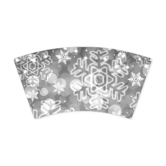 Elegant Holiday Christmas Bokeh Silver Paper Cup
