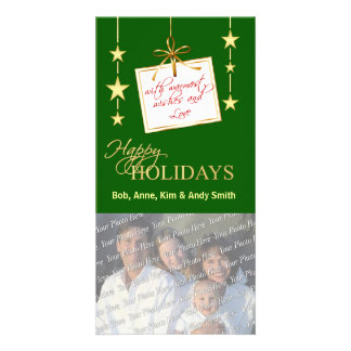 Elegant Holiday Family Photo Cards