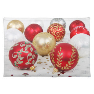 Elegant Holiday Placemats, Vintage Ornaments Placemat