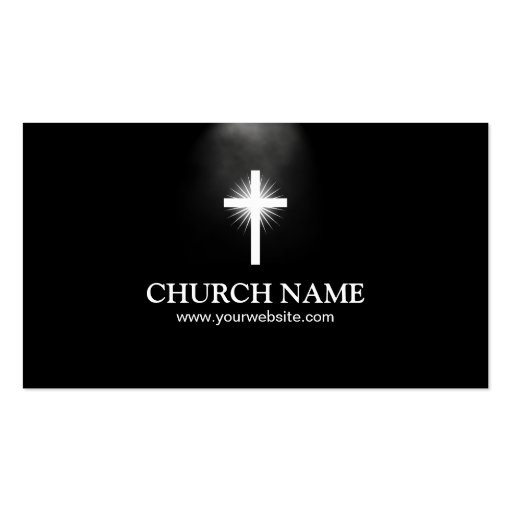 Elegant Holy Light Church Business Card