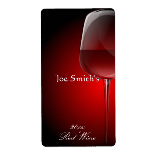 Elegant Home Made Wine Label Shipping Label