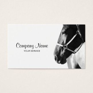 Elegant Horse Head White Business Card