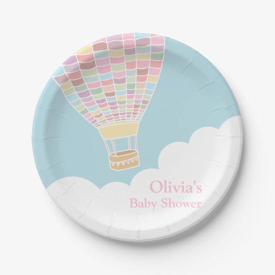 Elegant Hot Air Balloon Baby Shower Supplies Paper