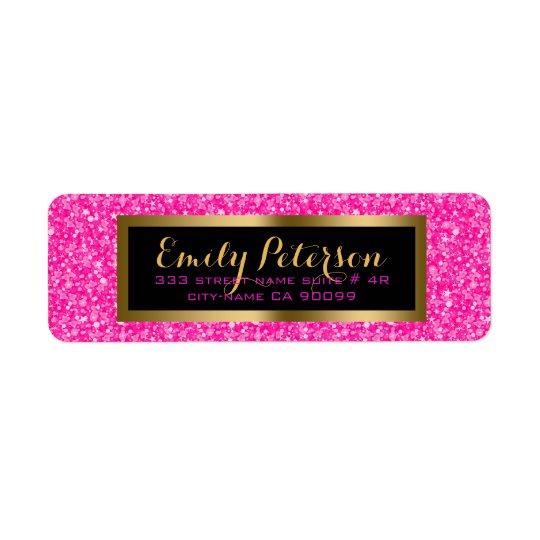 Elegant Hot Pink And White Glitter