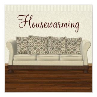 Elegant Housewarming Party Neutral Lounge 13 Cm X 13 Cm Square Invitation Card