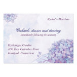 Elegant Hydrangea Wedding Reception (3.5x2.5) Pack Of Chubby Business Cards