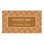 Elegant, Ice Cream Waffle Cone Pack Of Standard Business Cards
