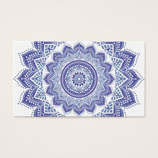 Elegant Indian Ornamental Vintage Design Purple Business Card