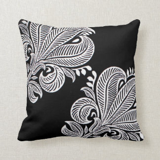 Elegant Indian Pattern Floral Graphic Design Cushion