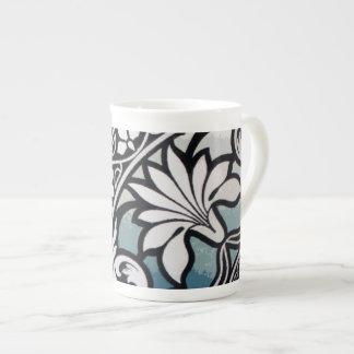 Elegant Indian Pattern Floral Graphic Design Mug Bone China Mug