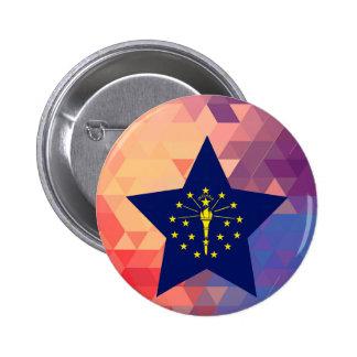 Elegant Indiana flag heart 6 Cm Round Badge