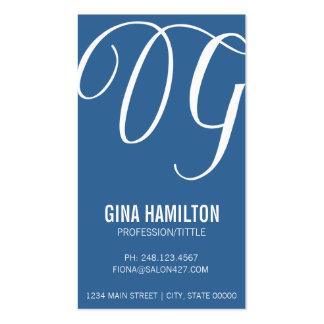 Elegant Initial Script   Business Cards