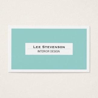 Elegant Interior Designer Turquoise Business Card