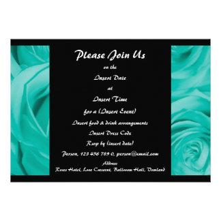 Elegant Invitations turquoise - customizable