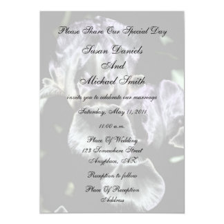 Elegant Iris Pair Floral Wedding Invitation