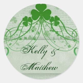 Elegant Irish Classic Round Sticker
