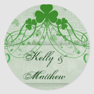 Elegant Irish Round Sticker
