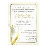 Elegant Ivory Calla Lily Wedding Invitation