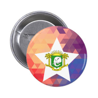 Elegant Ivory Coast flag heart 6 Cm Round Badge