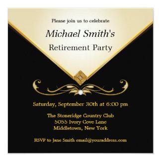 Elegant Ivory Gold Black Special Event Invitations
