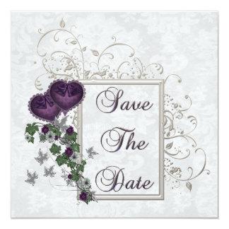 Elegant Ivy Wedding Suite 5.25x5.25 Square Paper Invitation Card