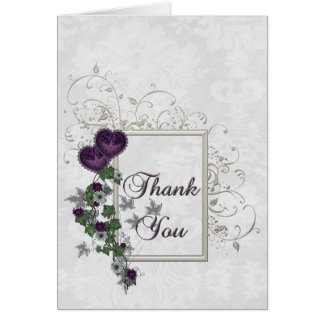 Elegant Ivy Wedding Suite Thank You Greeting Card