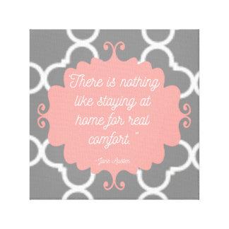 Elegant Jane Austen quote canvas