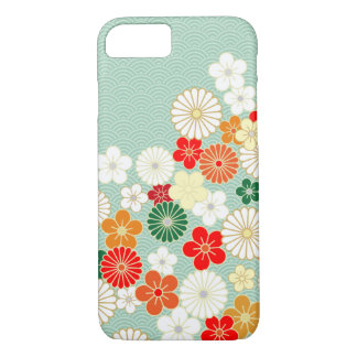 Elegant Japanese Floral Pattern iPhone 7 case