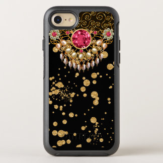 Elegant Jeweled Glitzy Design OtterBox Symmetry iPhone 7 Case