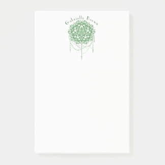 Elegant Jeweled Zen Mandala Post-it Notes