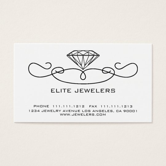 ELEGANT JEWELERS DIAMOND BUSINESS CARD