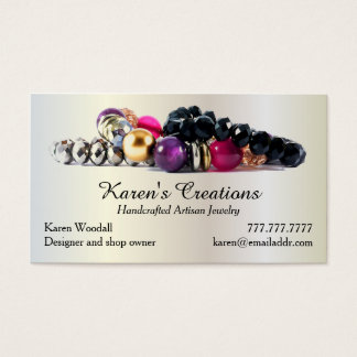 Elegant Jewellery or Jewellery Designer Maker Business Card
