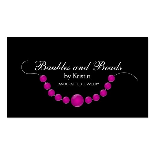 Elegant Jewelry and Beads Business Cards