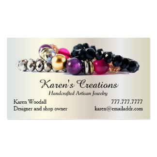 Elegant Jewelry or Jewellery Designer Maker Pack Of Standard Business Cards