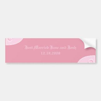 Elegant Just Married Bumper Sticker