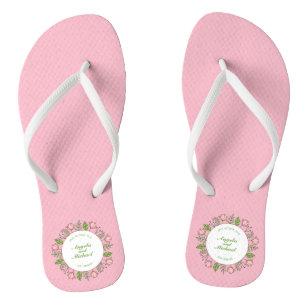 900b72732b6b80 Bride And Groom Flip Flops   Sandals