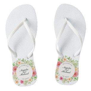73fedab78dadfc Elegant Just Married Wedding Flip Flops